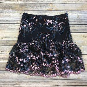 Nanette Nanette Lepore Embroidered Skirt